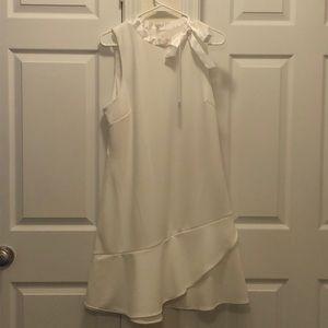 NWT Betsey Johnson Tie Neck Ruffle Dress